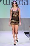 Model walks runway in lingerie from Wacoal, during the Lingerie Fashion Night - Romancing The Runway show, by CurvExpo and Lycra on February 23, 2015.