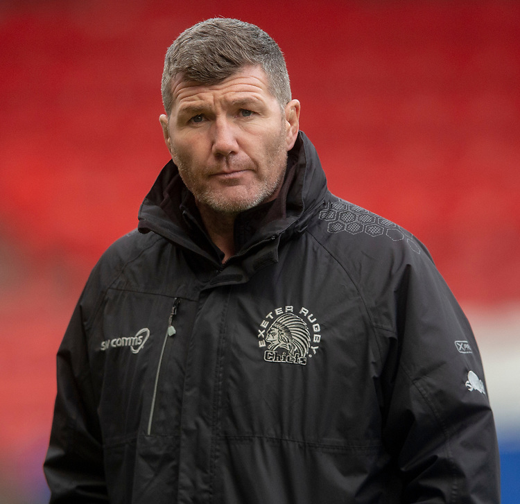 Exeter Chiefs' Head Coach Rob Baxter<br /> <br /> Photographer Bob Bradford/CameraSport<br /> <br /> Premiership Rugby Cup Round 4 - Bristol Bears v Exeter Chiefs - Saturday 26th January 2019 - Ashton Gate - Bristol<br /> <br /> World Copyright © 2018 CameraSport. All rights reserved. 43 Linden Ave. Countesthorpe. Leicester. England. LE8 5PG - Tel: +44 (0) 116 277 4147 - admin@camerasport.com - www.camerasport.com