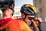 Phil Bauhaus (GER) Bahrain-Mclaren wins the stage and the overall general classification at the end of Stage 5 of the Saudi Tour 2020 running 144km from Princess Nourah University to Al Masmak, Saudi Arabia. 8th February 2020. <br /> Picture: ASO/Kåre Dehlie Thorstad   Cyclefile<br /> All photos usage must carry mandatory copyright credit (© Cyclefile   ASO/Kåre Dehlie Thorstad)