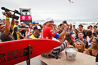 SNAPPER ROCKS, Queensland/Australia (Sunday, March 4, 2012) Adriano de Souza (BRA).  The final day of the Quiksilver and Roxy Pro Gold Coast presented by Land Rover culminated today with perennial ASP World Title threat Taj Burrow (AUS), 33, and four-time ASP Womens World Champion Stephanie Gilmore (AUS), 24, taking the respective wins in clean two-to-three foot (1 metre) waves at the primary venue of Snapper Rocks.. .The opening stop on the 2012 ASP World Championship Tour, the Quiksilver and Roxy Pro Gold Coast enjoyed sunny weather, light winds and a capacity crowd for the final day of competition, with the worlds best surfers putting on a spectacular display of high-performance surfing.. .Burrow defeated dangerous South American Adriano De Souza (BRA), 25, in a Final that came down to the wire. De Souza caught a wave in the dying minutes and launched into a massive air-reverse, requiring a 7.87 out of a possible 10 to take the lead. The judges deliberated until after the siren sounded and when it was announced that De Souza came a mere 0.27 short, Burrow was chaired up the beach and declared the 2012 Quiksilver Pro Gold Coast champion..Stephanie Gilmore (AUS), 24, reigning four-time ASP Womens World Champion, her fourth Roxy Pro Gold Coast title after defeating ASP Top 17 sophomore Laura Enever (AUS), 20, in a hard-fought Final. Gilmore was dominant throughout the event, posting scores in the excellent range in every encounter throughout the draw. Gilmore jumps back to No. 1 on the ASP Womens World Championship Tour ratings, a spot she lost at this event last year after holding it for four years.. Photo: joliphotos.com