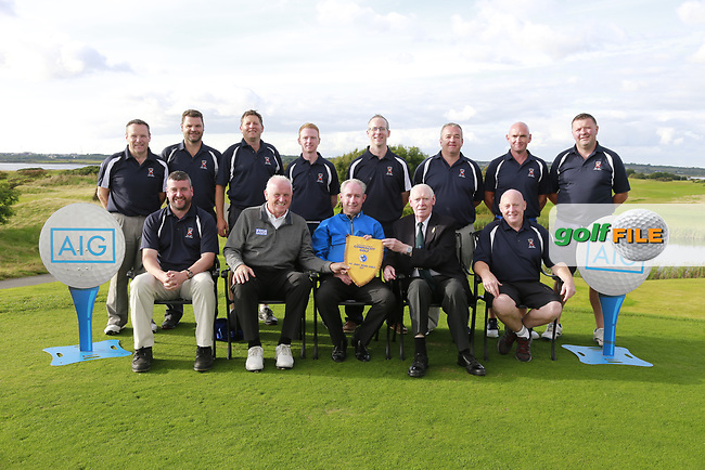 Castlebar team winners of the AIG Jimmy Bruen Shield Connacht Final, in Galway Bay Golf Club, Galway, Ireland. 12/08/2017<br /> Picture: Fran Caffrey / Golffile