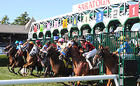 Scenes from around the track on Personal Ensign Invitational Handicap Day on August 26, 2012 at Saratoga Race Track in Saratoga Springs, New York.  (Bob Mayberger/Eclipse Sportswire)