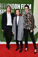 Adèle Haenel, Celine Sciamma and Noémie Merlant attend Portrait of a Lady on Fire premiere, an 18th century drama about a female painter who falls in love with her subject, at Embankment Gardens Cinema<br /> <br /> <br /> CAP/JOR<br /> ©JOR/Capital Pictures