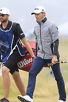 Joakim Lagergren (SWE) on the 1st green during Saturday's Round 3 of the 2018 Dubai Duty Free Irish Open, held at Ballyliffin Golf Club, Ireland. 7th July 2018.<br /> Picture: Eoin Clarke | Golffile<br /> <br /> <br /> All photos usage must carry mandatory copyright credit (&copy; Golffile | Eoin Clarke)