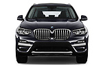 Car photography straight front view of a 2018 BMW X3 xLine-4wd 5 Door SUV Front View