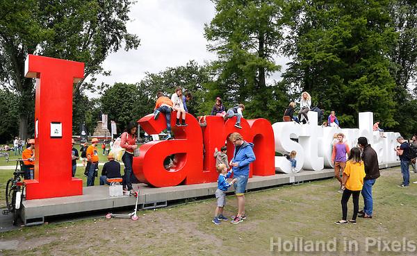 I Amsterdam letters in het vondelpark