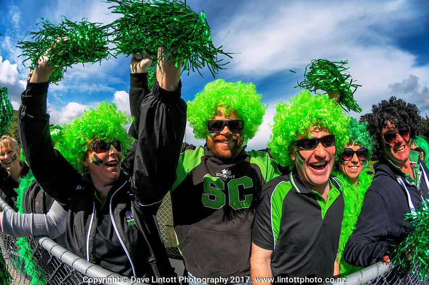 South Canterbury fans. Day one of the 2017 Air NZ Rippa Rugby Championship at Wakefield Park in Wellington, New Zealand on Monday, 18 September 2017. Photo: Dave Lintott / lintottphoto.co.nz