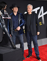 LOS ANGELES, CA. February 05, 2019: Robert Rodriguez &amp; James Cameron  at the premiere for &quot;Alita: Battle Angel&quot; at the Regency Village Theatre, Westwood.<br /> Picture: Paul Smith/Featureflash