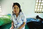 An acid attack survivor in CASC (Cambodian Acid Survivors Charity), Phnom Penh.