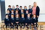 Michelle O&rsquo; Brien's class of Junior Infants in O'Brennan National School, Tralee on Thursday.<br /> Front Row: Jessica Lacey, Gear&oacute;id Jones, Doireann Broderick, Sophie McDonnell, Alison Butler, &Uacute;na Casey<br /> Middle Row: Anna McElligott, Miche&aacute;l Scanlon, Dara Leen, Carmen Mazzelle, Tristan Foley<br /> Back Row: Tadhg Brick, Emma Lacey, Evan Freeman, Fionn Hogan, R&uacute;tha Minkauskaite, Gear&oacute;id Leahy and Michelle O&rsquo; Brien (Teacher)