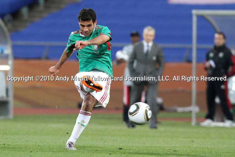 22 JUN 2010: Rafael Marquez (MEX). The Mexico National Team lost 1-2 to the Uruguay National Team at Royal Bafokeng Stadium in Rustenburg, South Africa in a 2010 FIFA World Cup Group A match.