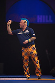 01.01.2014.  London, England.  William Hill PDC World Darts Championship.  Quarter Final Round.  Peter Wright (5) [SCO] in action during his game with Gary Anderson (4) [SCO]