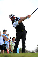 Darren Clarke (NIR) on the 9th tee during Round 2 of the KLM Open at Kennemer Golf &amp; Country Club on Friday 12th September 2014.<br /> Picture:  Thos Caffrey / www.golffile.ie