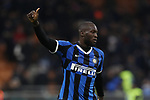 Romelu Lukaku of Inter salutes the fans after the final whistle of the Coppa Italia match at Giuseppe Meazza, Milan. Picture date: 12th February 2020. Picture credit should read: Jonathan Moscrop/Sportimage