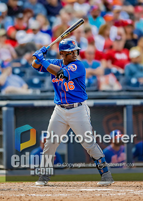 7 March 2019: New York Mets infielder Dilson Herrera at bat during a Spring Training Game against the Washington Nationals at the Ballpark of the Palm Beaches in West Palm Beach, Florida. The Nationals defeated the visiting Mets 6-4 in Grapefruit League, pre-season play. Mandatory Credit: Ed Wolfstein Photo *** RAW (NEF) Image File Available ***