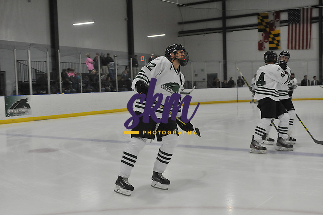 Stevenson's men's ice hockey celebrated  their inaugural game against Morrisville State Friday night at Reisterstown Sportsplex, with a 7-1 victory.