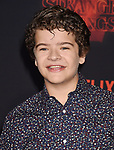 WESTWOOD, CA - OCTOBER 26: Actor Gaten Matarazzo arrives at the Premiere Of Netflix's 'Stranger Things' Season 2 at Regency Westwood Village Theatre on October 26, 2017 in Los Angeles, California.
