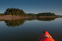 Kayaking Up the Bagaduce River, Castine, Maine, US