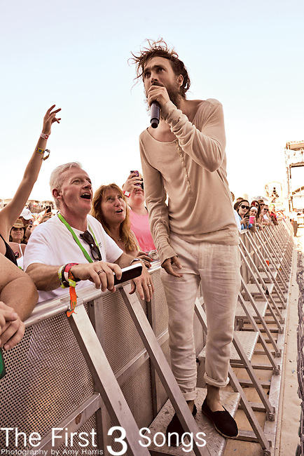 Edward Sharpe and the Magnetic Zeroz performs during the Hangout Music Fest in Gulf Shores, Alabama on May 20, 2012.