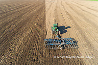 63801-11803 Tilling field after soybean harvest-aerial Marion Co.  IL