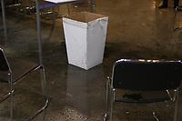 SAO PAULO, SP - 12.02.2019 - CAMPUS PARTY - Vazamento de &aacute;gua no sistema de ar-condicionado, afeta campuseiros durante o primeiro dia da Campus Party Brasil 2019 na manh&atilde; desta ter&ccedil;a-feira (12) Expo Center Norte na zona norte de Sao Paulo.<br /> <br /> <br /> (Foto: Fabricio Bomjardim / Brazil Photo Press / Folhapress)