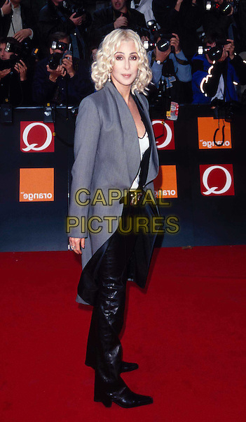 CHER   ..Ref: 11175..full length, full-length, red carpet, gray suit jacket, grey suit jacket, blonde hair..www.capitalpictures.com..sales@capitalpictures.com..©Capital Pictures..