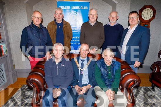 Members of the Tralee Lions Club at their monthly meeting in the Meadowlands Hotel on Tuesday putting the finishing touches to their annual Street Collection fundraiser, which takes place in various places through out Tralee on this Friday and Saturday.<br /> Seated Fergus Courtney (Secretary and Tresurer) and Sean Cooke (President) and Robert Groves.<br /> Standing l to r: Teddy Reynolds, Finbar O'Connell, John Callanan, Gordon Nicholson and Roger Harty.