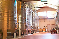 The winery - stainless steel fermentation tanks - Château Pey la Tour, previously Clos de la Tour or de Latour, Bordeaux, France