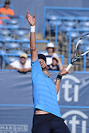 Washington, DC - August 5, 2015: Feliciano Lopez serves the ball during a match against Lleyton Hewitt at the Citi Open tennis tournament at the FitzGerald Tennis Center in the District of Columbia, August 5, 2015.  (Photo by Don Baxter/Media Images International)