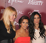BEVERLY HILLS, CA - SEPTEMBER 23: Eva Longoria;Demi Moore arrive at the 3rd Annual Variety's Power of Women Event presented by Lifetime at the Beverly Wilshire Four Seasons Hotel September 23, 2011 in Beverly Hills, United States.