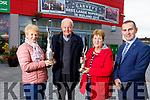 Listowel Tidy Towns committee winners of the National  and Small Town awards. <br /> Front l-r, Mary Hanlon (Secretary),  Canon Linnane, Julie Gleeson (Chairperson) and Paul O&rsquo;Connor (Garveys).
