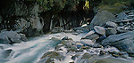 Rocky Gorge in the Upper Styx River. Westland Region. New Zealand.