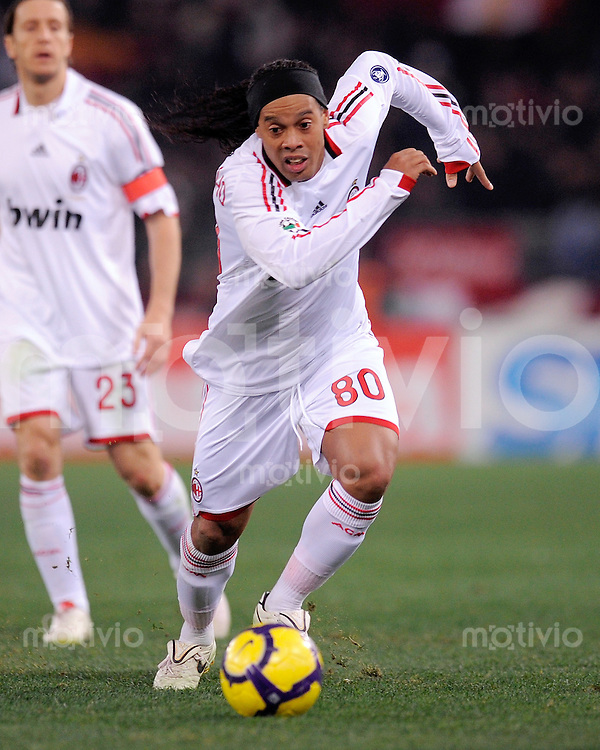 FUSSBALL INTERNATIONAL   SERIE A   SAISON 2009/2010    AS Rom -  AC Mailand       06.03.2010 Ronaldinho  (Milan)