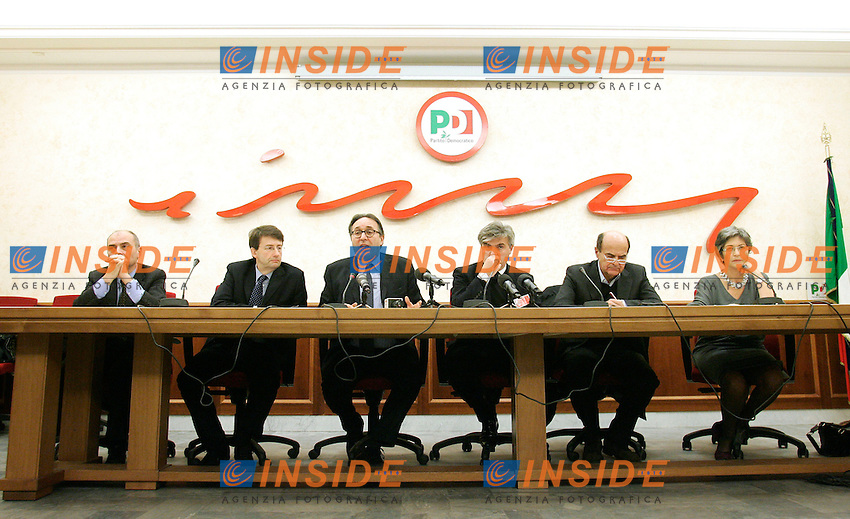 .Roma 09/12/2010 Conferenza stampa promossa dal PD sul Federalismo.Foto Samantha Zucchi Insidefoto