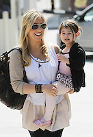 Pregnant Sarah Michelle Gellar picks up little Charlotte from ballet class in Studio City today. While Sarah wore a loose fitting blouse and a xxl Prada bag, Charlotte sported glittering pink shoes and a cute leopard print ballet dress. Los Angeles, California on 19.05.2012.Credit: Vida/face to face /MediaPunch Inc. ***FOR USA ONLY***