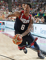 USA's Derrick Rose during 2014 FIBA Basketball World Cup Quarter-Finals match.September 9,2014.(ALTERPHOTOS/Acero)