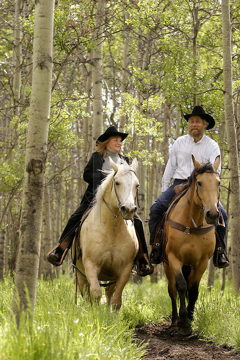 Denise and Rick Guinn of the Boundary Ranch in Kananaskis, Alberta on Sunday, June 22, 2004. .Photo Credit: John Ulan/Epic Photography