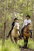 Denise and Rick Guinn of the Boundary Ranch in Kananaskis, Alberta on Sunday, June 22, 2004. .Photo Credit: John Ulan/Epic Photography