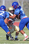 Gardena, CA 09/24/09 - Serra of Gardena Freshmen/Sophomores defeated the Peninsula Panthers 44-0.  In action are Ryan Sawelson