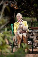 Liisa Joronen, founder of Finnish corporation SOL, poses for the photographer at her home in the Var, France, 11 April 2012