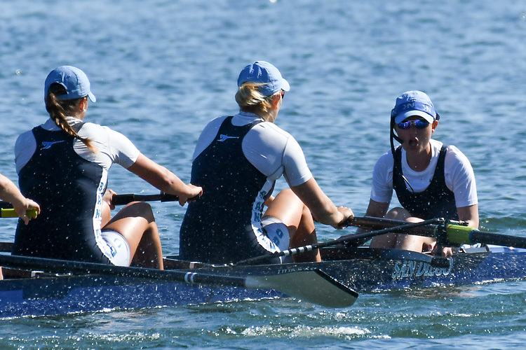 May 13, 2017; Gold River, CA, USA; II Eight San Diego Toreros during the WCC Rowing Championships at Lake Natoma.