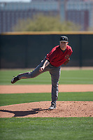 Arizona Diamondbacks relief pitcher Parker Markel (38) follows through on his delivery during a Minor League Spring Training intrasquad game at Salt River Fields at Talking Stick on March 12, 2018 in Scottsdale, Arizona. (Zachary Lucy/Four Seam Images)