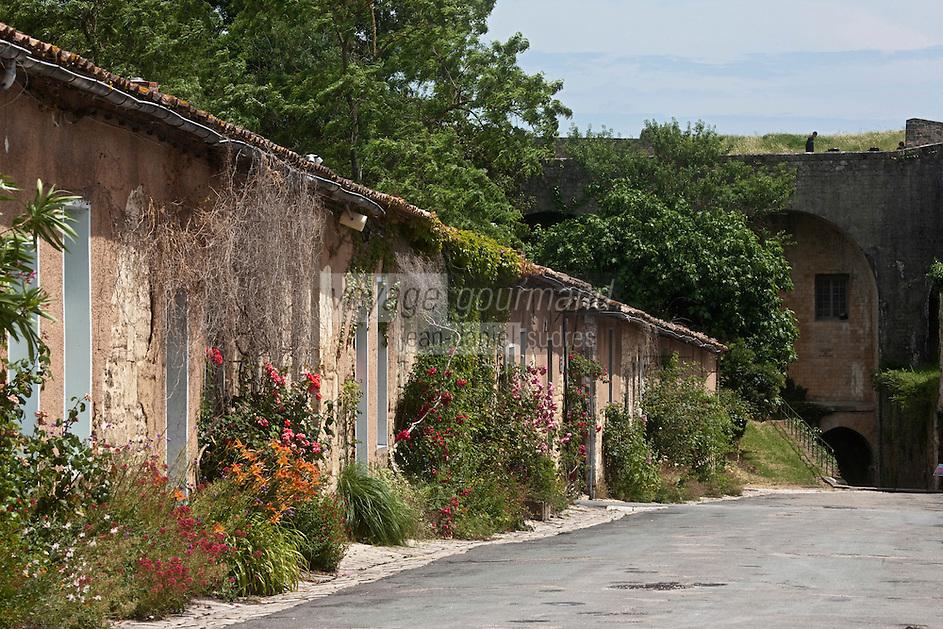 Europe/France/Aquitaine/33/Gironde/Blaye: La Citadelle - Maisons de la rue du Couvent des Minimes -Patrimoine mondial UNESCO