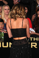 """LOS ANGELES - MAR 12:  Miley Cyrus arrives at the """"Hunger Games"""" Premiere at the Nokia Theater at LA Live on March 12, 2012 in Los Angeles, CA"""