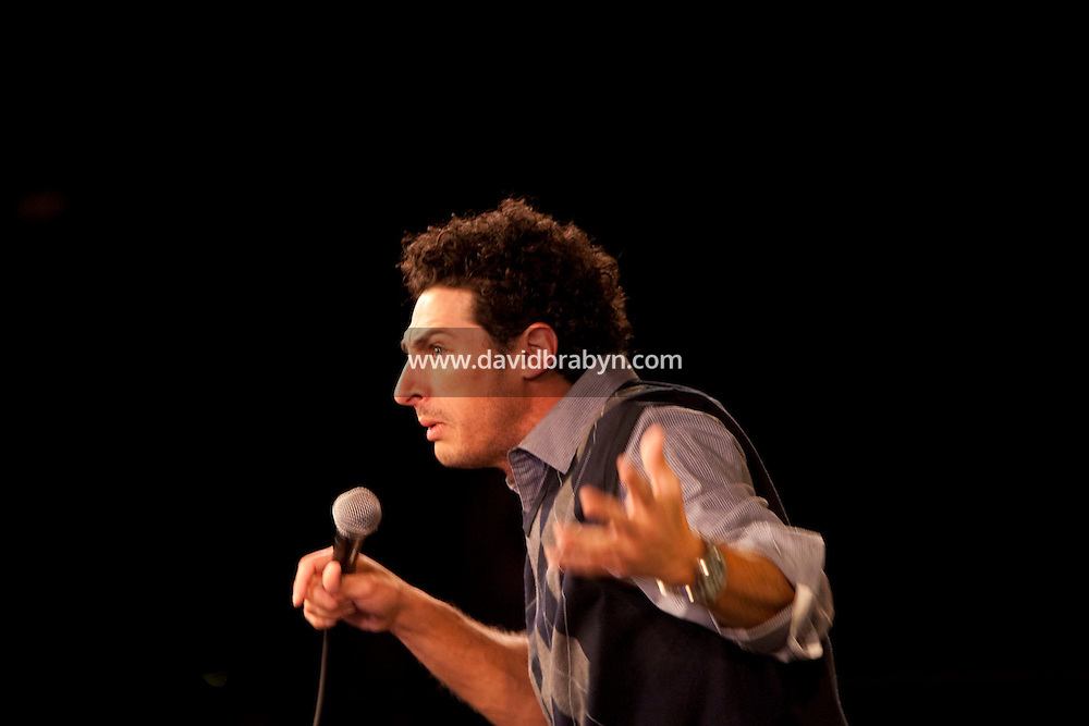 Comedian Aron Kader performs in the 6th Annual NY Arab-American Comedy Festival in New York, USA, 13 May 2009.