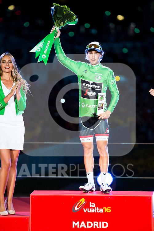 Fabio Felline, winner of Points classification at La Vuelta a España 2016 in Madrid. September 11, Spain. 2016. (ALTERPHOTOS/BorjaB.Hojas)