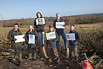 On Sunday 27 January, senior staff from six major environment and conservation groups will visit the Combe Haven valley, site of the planned Bexhill to Hastings Link Road.<br /> (left to  right Steven Joseph campaign for better Transport , Chris Corrigan RSPB , Stephanie Hilborne Wildlfie Trusts. Andy Atkins FOE, John Sauven Greenpeace,  Ralph Smyth CPRE )<br /> <br /> The heads of Greenpeace, Friends of the Earth, The Wildlife Trusts and the Campaign for Better Transport will join with senior colleagues from RSPB and Campaign to Protect Rural England (CPRE) to see first-hand the area threatened by the planned road and the impact contractors works have already caused. They will also meet protestors taking part in the high profile campaign against its construction and highlight the impacts and threats from the Government's forthcoming roads strategy.