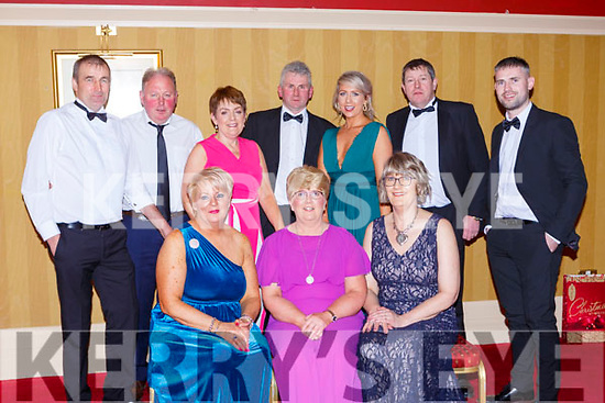 Enjoying the Kerry Hunt ball in the Killarney Avenue Hotel on Saturday night front row l-r: Mary Fitzgerald, Julianne O'Connor, Maureen McAdam. Back row; Mike Fitzgerald, Tim and Mary Collins, John O'Connor, Helena O'Connor, Steve riordan and Brendan Joyce