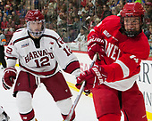 John Marino (Harvard - 12), Mitch Vanderlaan (Cornell - 14) - The Harvard University Crimson defeated the visiting Cornell University Big Red on Saturday, November 5, 2016, at the Bright-Landry Hockey Center in Boston, Massachusetts.