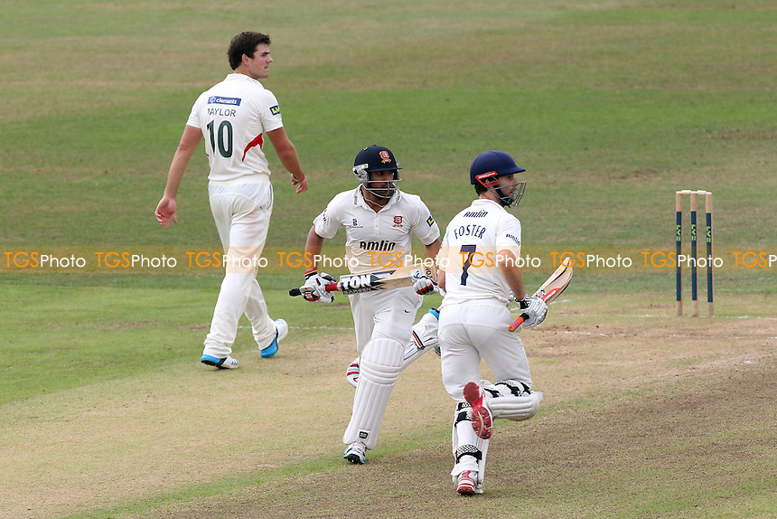 James Foster (R) and Ravi Bopara add to the Essex total as Leicestershire bowler Rob Taylor looks on - Leicestershire CCC vs Essex CCC - LV County Championship Division Two Cricket at Grace Road, Leicester - 16/09/14 - MANDATORY CREDIT: Gavin Ellis/TGSPHOTO - Self billing applies where appropriate - contact@tgsphoto.co.uk - NO UNPAID USE